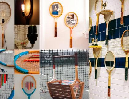 Arte Tenística: 20 ideas para reutilizar tus viejas raquetas de tenis