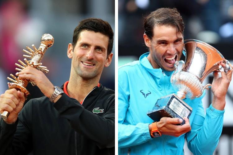 Djokovic y Nadal, líderes de los Masters 1000 en Mayo
